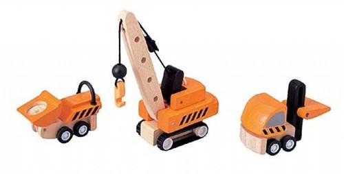 Plan Toys  Plan City houten Constructiewagens-2