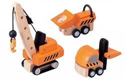 Plan Toys  Plan City houten speelstad voertuig Constructiewagenset
