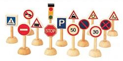Plan Toys Plan City houten Verkeersborden set