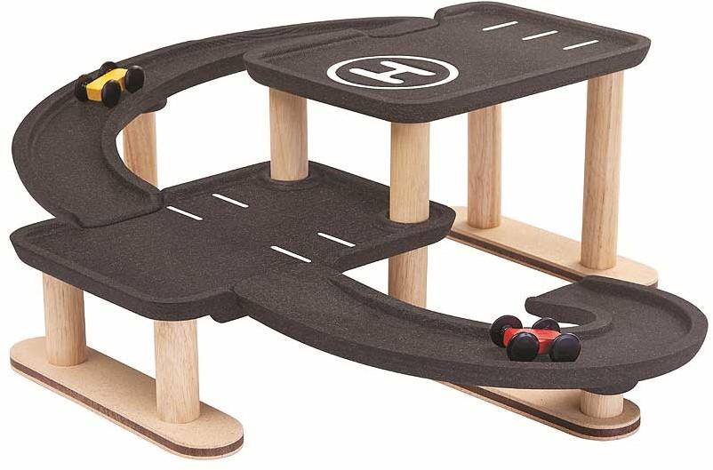 Speelgoed Garage Hout : Plan toys houten speelgoedgarage race n play bij planet happy