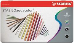 STABILO aquacolor metaal etui 12 stuks