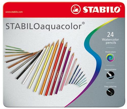 STABILO aquacolor metaal etui 24 stuks