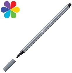 Stabilo  teken en verfspullen pen 68 donkergrijs