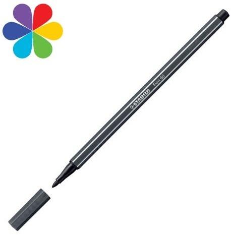 STABILO pen 68 zwartgrijs