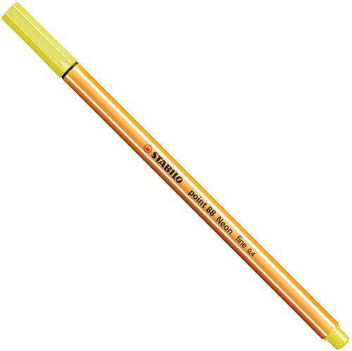 STABILO point 88 neon geel