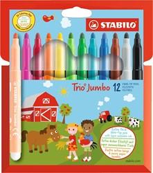 STABILO - 12 stabilo trio jumboXXL viltstift