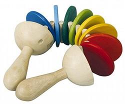 Plan Toys  houten muziekinstrument Grote ratel