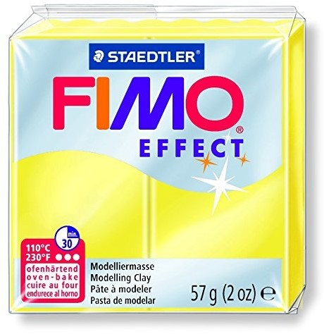 Fimo  effect klei transparant geel