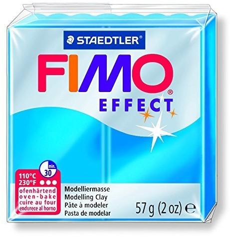 Fimo  effect klei transparant blauw