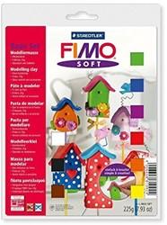 Fimo  soft klei - basisset 9 halve b