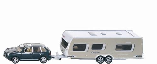 Siku 1:55 Auto met caravan en accessoires 2542