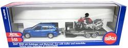 Siku 1:50 Auto met aanhanger en motor 2547