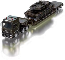 Siku miniatuur speelvoertuig 1:50 Militair Zwaartransport met Panzer tank