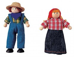 Plan Toys  houten poppenpenhuis poppen poppenpenboerin