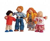 Plan Toys  houten poppenhuis poppen Moderne poppenfamilie-2