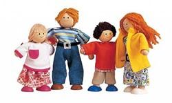 Plan Toys houten poppenhuis poppen Moderne familie