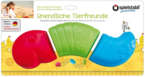 Spielstabil 3-Piece Never-ending Animal Friends - Worm fashion
