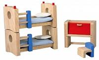 Plan Toys houten poppenhuis meubels Kinderkamer - neo