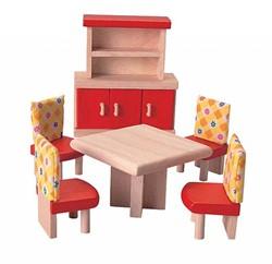 Plan Toys  houten poppenhuis meubels Eetkamer - neo
