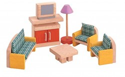 Plan Toys  houten poppenhuis meubels woonkamer - neo