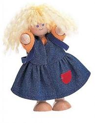 Plan Toys  houten poppenhuis poppen poppenmeisje