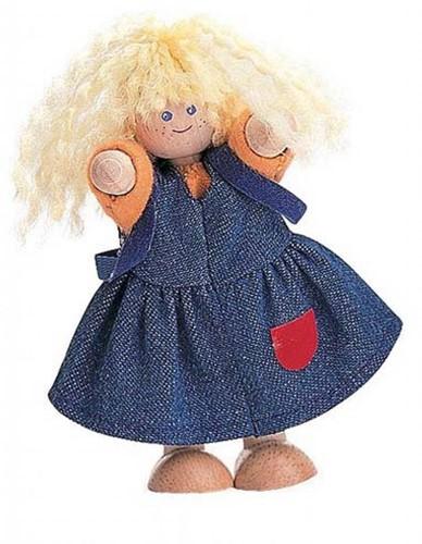 Plan Toys houten poppenhuis pop Meisje