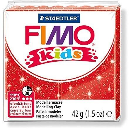 Fimo  kids klei - glitter rood