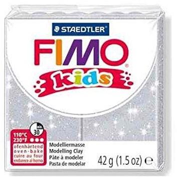 Fimo  kids klei - glitter zilver