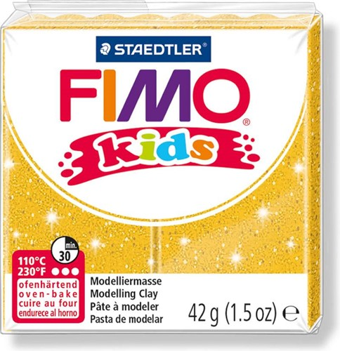 Fimo  kids klei - glitter goud
