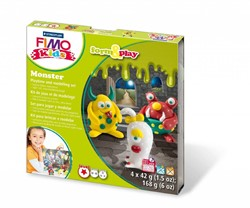 Fimo  kids klei - Monster