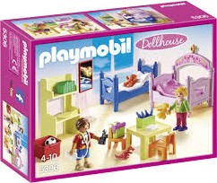 Playmobil  Dollhouse poppenhuis accessoires Kinderkamer met stapelbed 5306