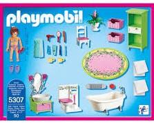 Playmobil Dollhouse - Badkamer met bad op pootjes 5307 bij Planet ...