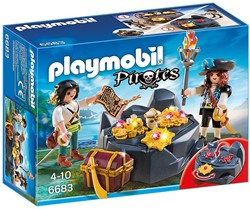 Playmobil Pirates - Koninklijke schatkist met piraat  6683