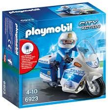 Playmobil  Action Politiemotor met LED-licht 6923
