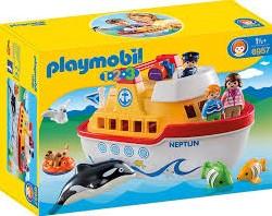 Playmobil  1.2.3. meeneem schip 6957