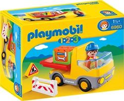 Playmobil  1.2.3. vrachtwagen met laadklep 6960