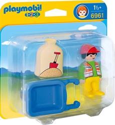 Playmobil  1.2.3. Arbeider met kruiwagen 6961