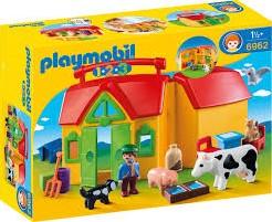 Playmobil  1.2.3. Meeneemboerderij met dieren 6962