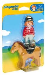 Playmobil  1.2.3. Ruiter met paard 6973