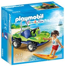 Playmobil  Family Fun Surfer met strandbuggy 6982