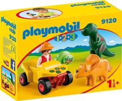 Playmobil - Playmobil 1.2.3 - Dino-onderzoeker met quad