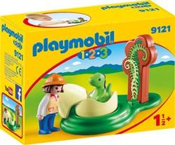 Playmobil - Playmobil 1,2,3 - 1.2.3 Onderzoeker met babydino