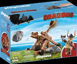Playmobil Dragons Rochel met katapult 9245
