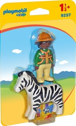 Playmobil - Playmobil 1,2,3 - Verzorger met zebra