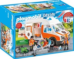 Playmobil City Life - Ambulance en ambulanciers 70049