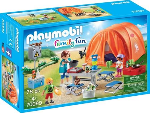 Playmobil Family Fun  - Kampeerders met tent 70089