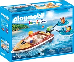 Playmobil Family Fun  - Motorboot met funtubes 70091