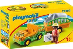 Playmobil 1.2.3 - Dierenverzorger met neushoorn 70182