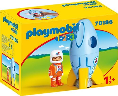 Playmobil 1.2.3 - Astronaut met raket 70186