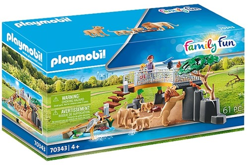 Playmobil Family Fun - Leeuwen in het buitenverblijf 70343